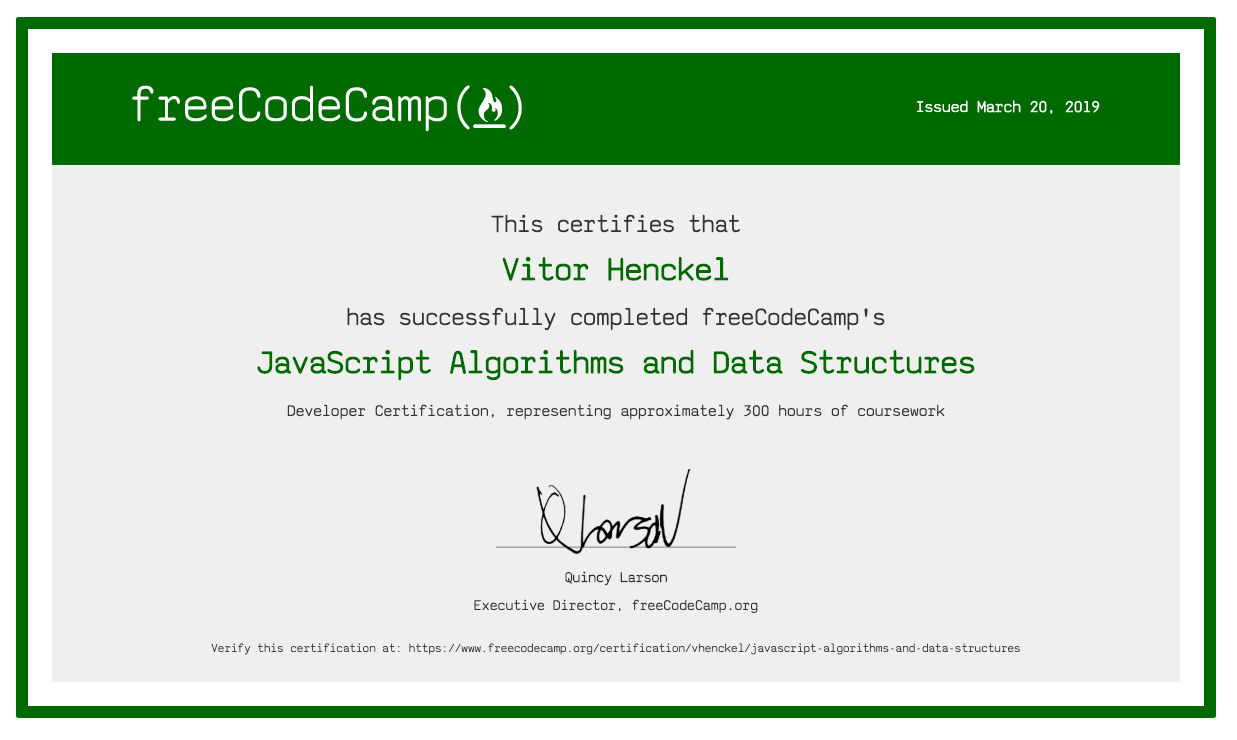 FreeCodeCamp - Javascript Algorithms and Data Structures