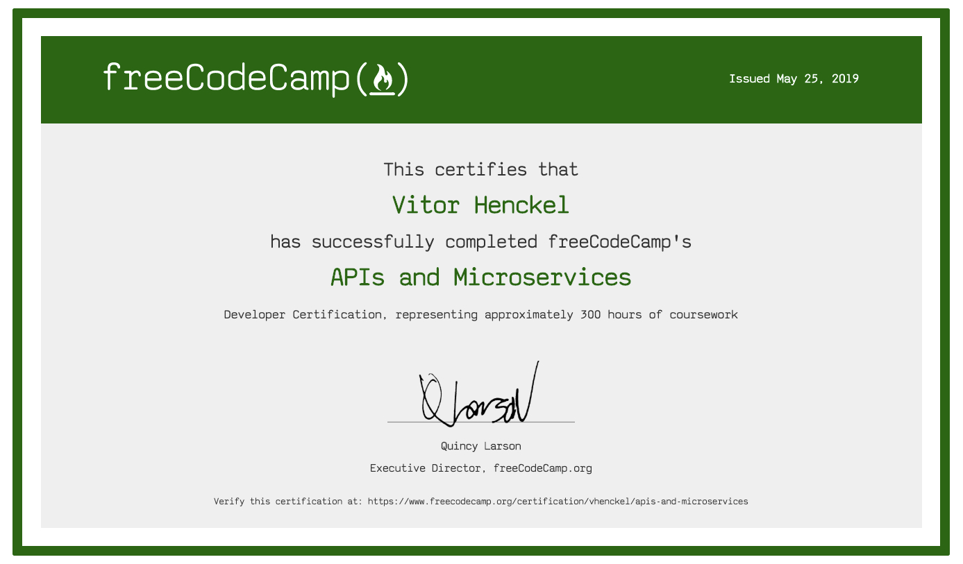 FreeCodeCamp - Node - Api's and Microservices